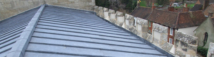 Lead roof repair Exeter Cathedral