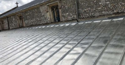A New Terne Coated Stainless Steel Roof for St John's, Pewsey