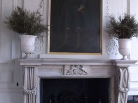 White room fireplace repairs and replacement carvings