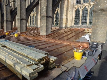 Downside Abbey roof, Somerset